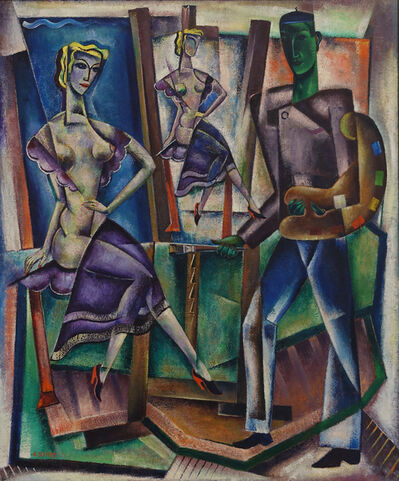 Reimond Kimpe, 'the painter and his model', ca. 1950
