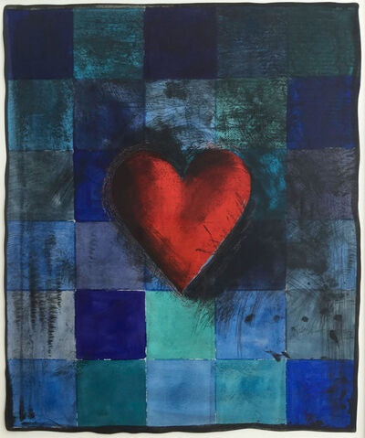 Jim Dine, 'Hart in Blu', 1995