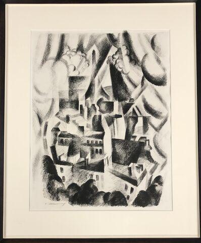 Robert Delaunay, 'Fenêtre sur la Ville, Paris Eiffel', 1925