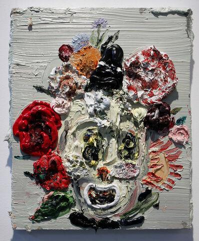 Allison Schulnik, 'Flower Face #9', 2009