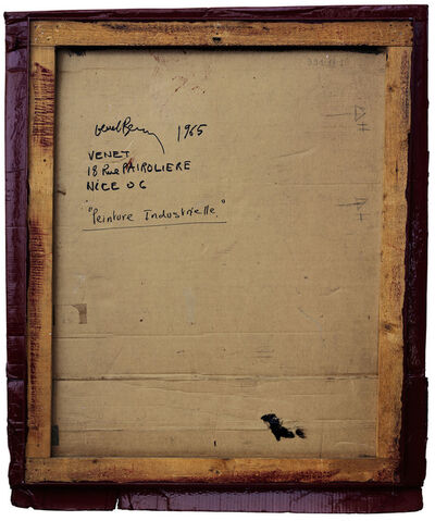 Philippe Gronon, 'Verso n°21, Relief-Carton rouge Médoc, par Bernar Venet, collection Mamac, Nice', 2007