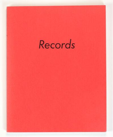 Ed Ruscha, 'RECORDS', 1971
