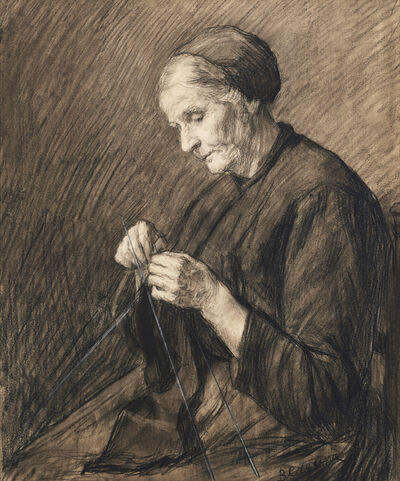 Baruch Lopes de Leão Laguna, 'Knitting Woman', ca. 1940-1942