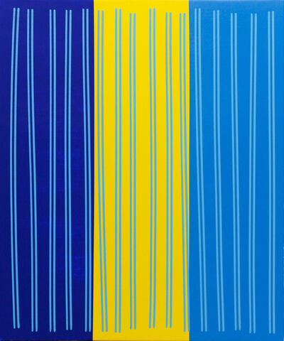 Bradley Harms, 'Simple Line Set (Brill Blu/Yelo/Cobalt Blu)', 2014