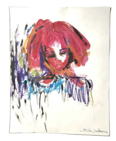 Bonnie Walters, 'Girl with pink hair', 2019