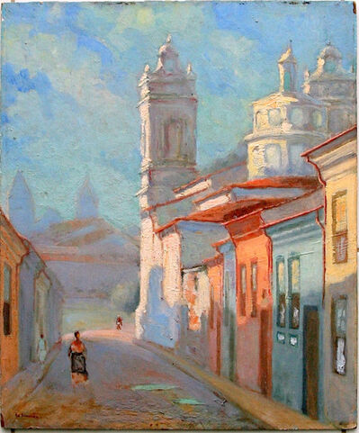 Henri Eugène Le Sidaner, 'Town street', 1900
