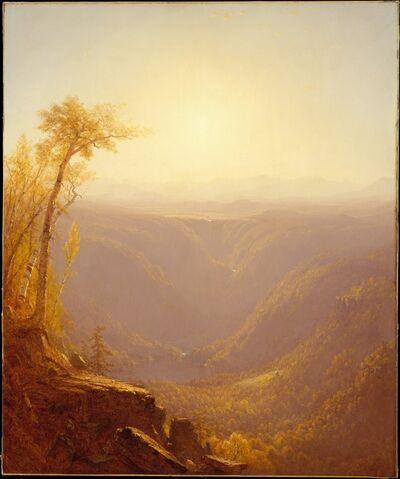 Sanford Robinson Gifford, 'A Gorge in the Mountains (Kauterskill Clove)', 1862