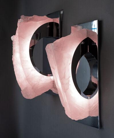 Ernesto Durán, 'Arc Sconces - Rose Quartz', 2019