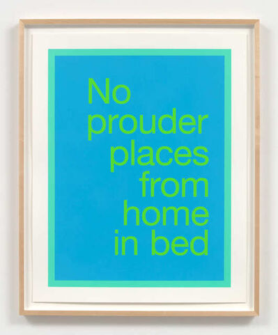 Renée Green, 'No prouder places from home in bed', 2020