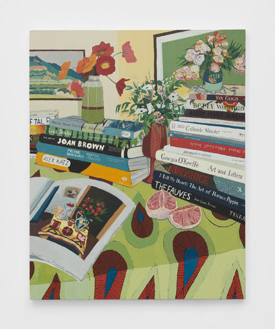 Hilary Pecis, 'Tables, Flowers, and Books', 2019