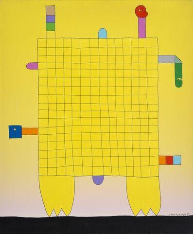 Sadamasa Motonaga, 'Yellow Amime ', 1981