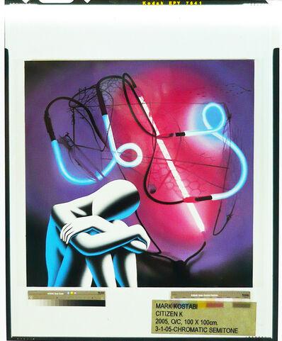 Mark Kostabi, 'Artwork on Negative Photographic Film n. 15', 2009-2012