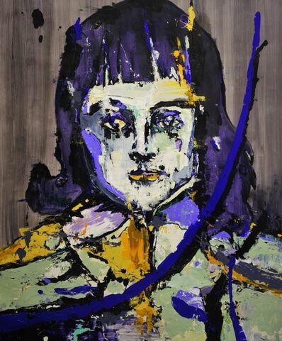 Lars Teichmann, 'Blue Portrait', 2018