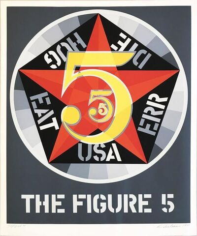 Robert Indiana, 'Decade (The Figure 5)', 1971