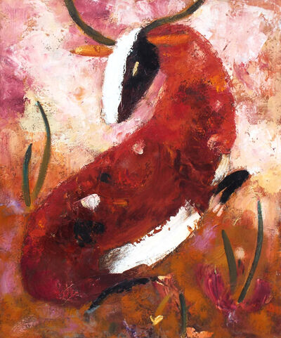 Valentina DuBasky, 'Claret Stag in Russet Field', 2012