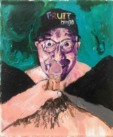 Huey Crowley, 'Me pissing on Jerry Saltz's face', 2017