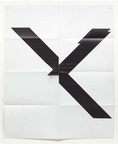 Wade Guyton, 'X Poster (Untitled, 2007, Epson UltraChrome inkjet on linen, 84 x 69 inches, WG1211), 2019', 2019