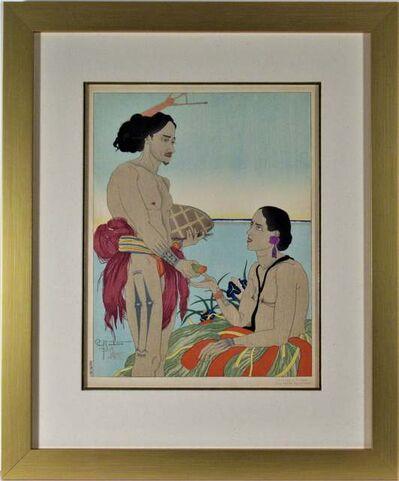 Paul Jacoulet, 'Amoureux a Tarang, Yap, Ouest Carolines ', 1935