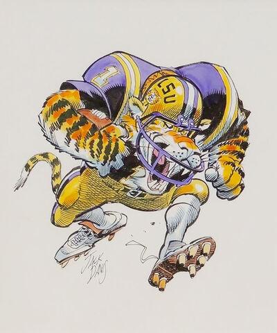Jack Davis, 'LSU Tigers', 1990