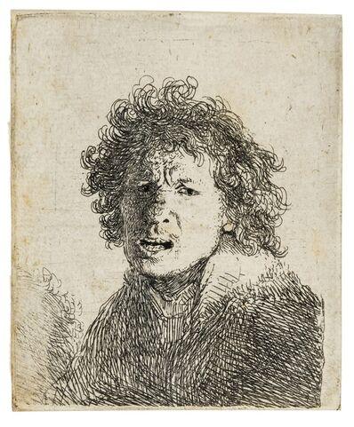 Rembrandt van Rijn, 'Self Portrait Open-mouthed, as if Shouting', 1630