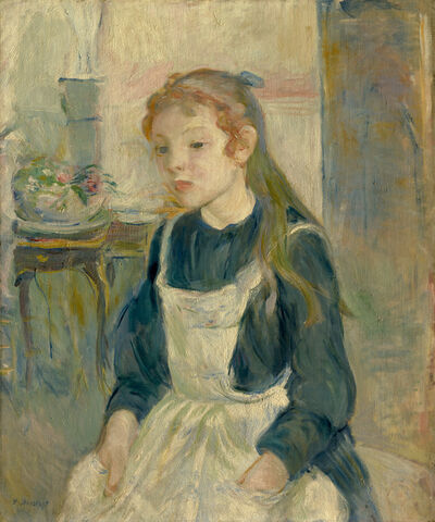 Berthe Morisot, 'Young Girl with an Apron', 1891