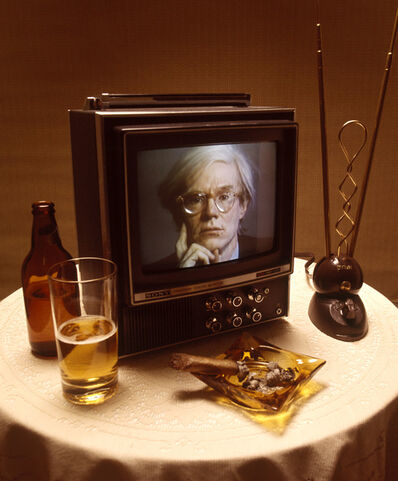 Carl Fischer, 'Andy Warhol on TV', 1976