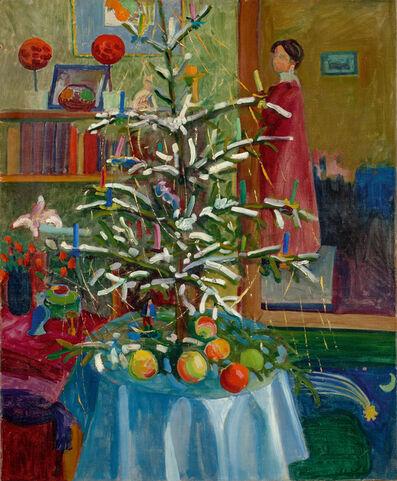 Gabriele Münter, 'Interieur mit Weihnachtsbaum (Selbstbildnis)', 1908-1909