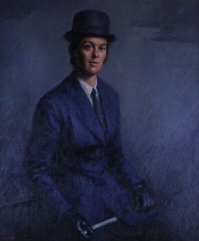 Foster Caddell, 'Carol Orcut in Saddle Seat'