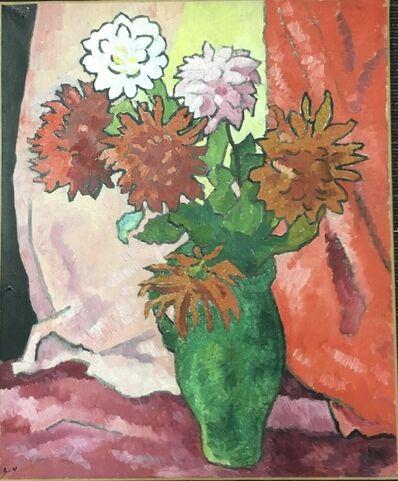 Louis Valtat, 'Dahlias, cruche verte', ca. 1942