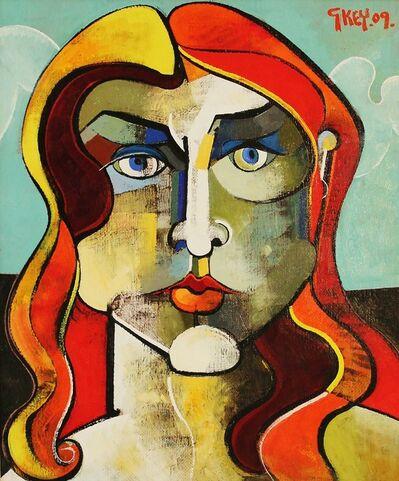 Geoffrey Key, 'Girl with Red Hair', 2009
