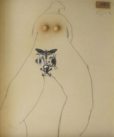 American Surrealist School, 'Reclining nude'