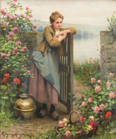 Daniel Ridgway Knight, 'Young Woman in Garden', 1920-1924
