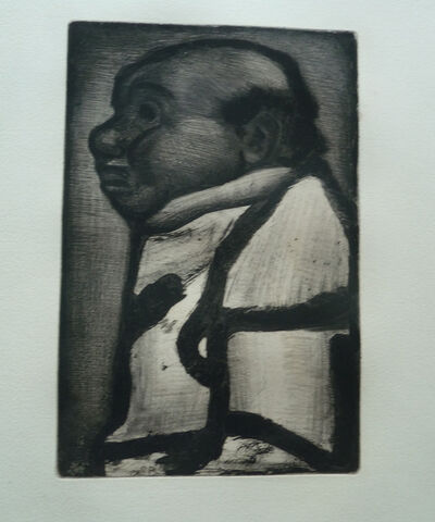 Georges Rouault, 'Man in profile', XXth century