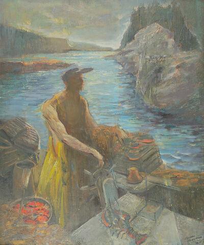 Edward Christiana, 'Break of Day, Lobsterman', 1952-1965