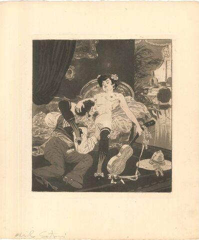 Emil Sartori, 'Erotic Scene IX - Illustration', 1907