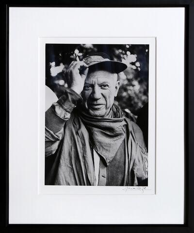 Lucien Clergue, 'Picasso a la Feria, revetu des habits de la Pena de Logrono - Nimes, 1959', 1959