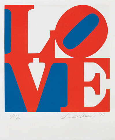 Robert Indiana, 'Love, from Book of Love', 1996