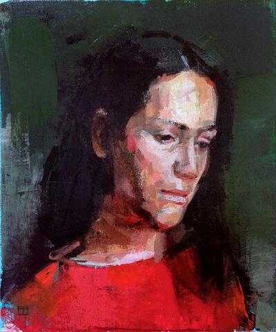 Chris Thornock, 'Head Study in Green', 2016
