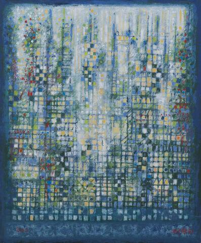 Manuel Cargaleiro, 'Paysage aux carreaux blancs H07', 2000