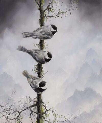 Brian Mashburn, 'Three Chickadees', 2021