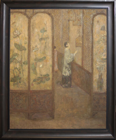 Juanli Jia, 'Woman in Interior with Birdcages', 1990-1999