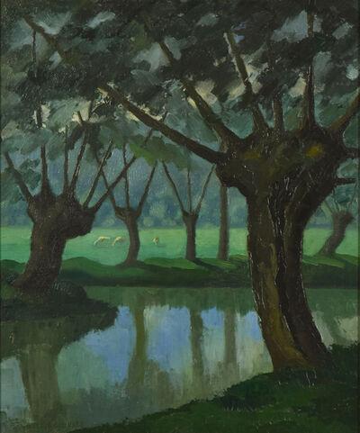 Paulémile Pissarro, 'Les Trois Vaches au bord de La Lieure à Lyons-la-Forêt', 1927