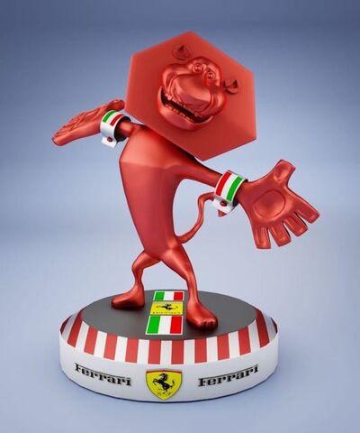 GEORGE PANOSSIAN, 'Lion Ferrari', 2020