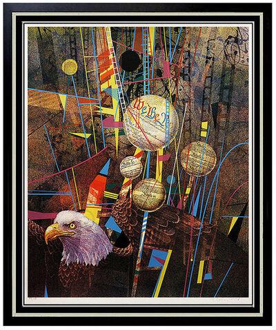 Yankel Ginzburg, 'Large Original YANKEL GINZBURG Signed Silkscreen Artwork Pop Art painting USA', 20th Century