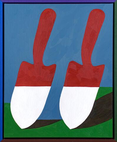 Jordy van den Nieuwendijk, 'Barn-Red Spades', 2018