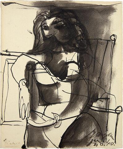 Pablo Picasso, 'Buste de femme assise dans un fauteuil', 14763