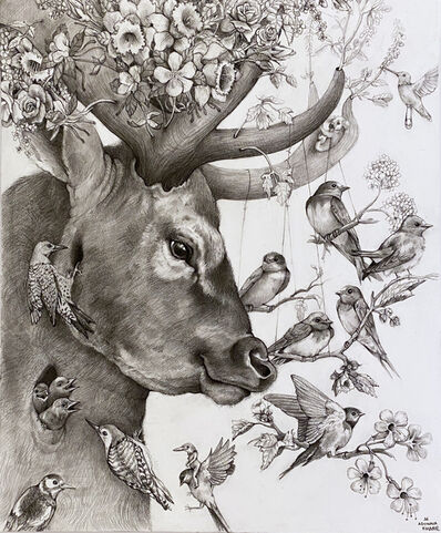Adonna Khare, 'Deer with Birds', 2021