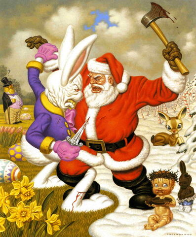Todd Schorr, 'Clash of the Holidays'