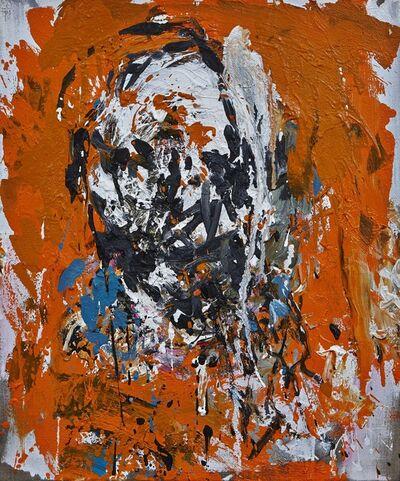 Klaus Prior, 'Kopf-Orange', 2014