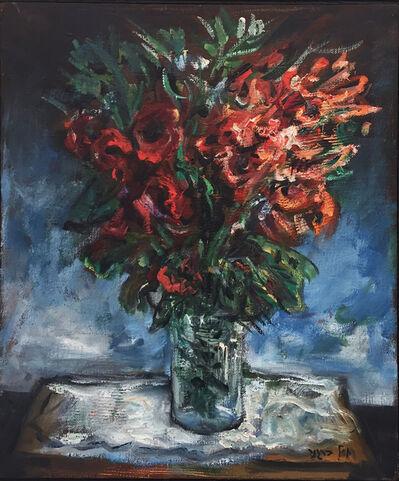 Yosl Bergner, 'Red Bouquet', ca. 1980